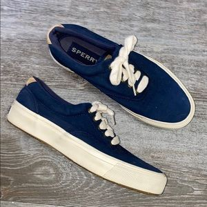 COPY - Sperry Canvas Navy Sneakers